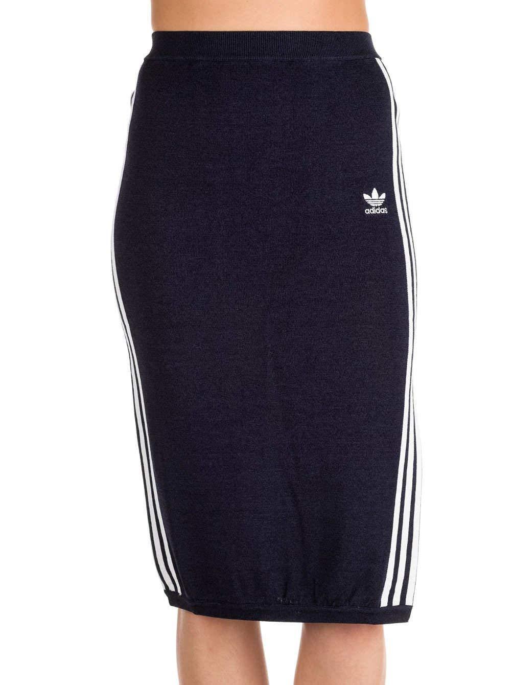 adidas Originals 3-Streifen-Rock für Frauen Fashion Style Leisure Navy Classic