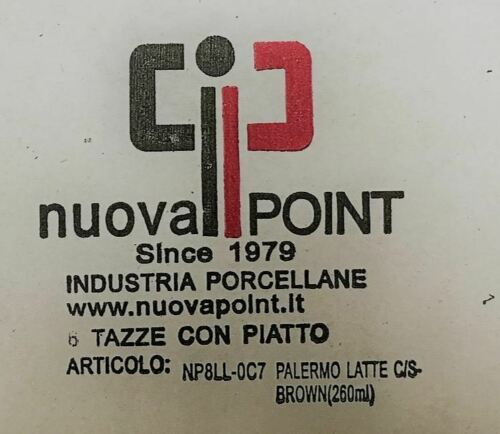 Angebot Lattetasse,Tassen Palermo braun Neu Nuova Point LatteTasse