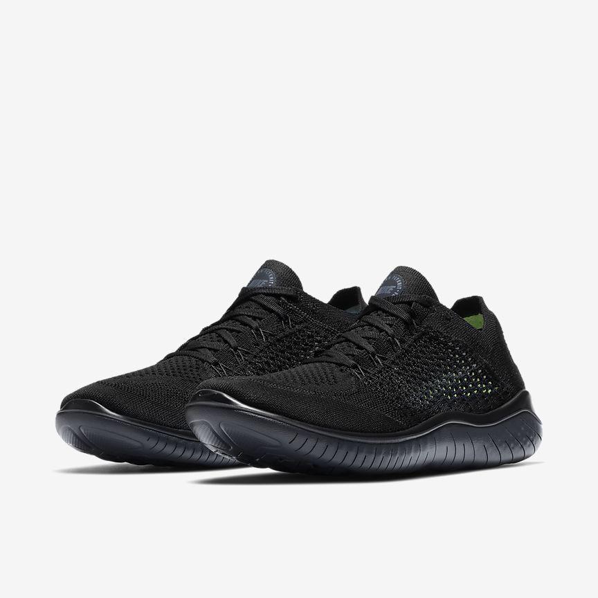 Nike libera rn flyknit 2018 triple nero out Uomo correndo tutte le nuove
