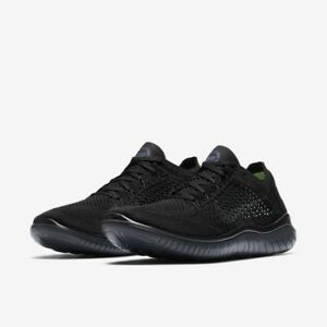Nike Free RN 2018 Triple Black Blackout Mens Running All NEW