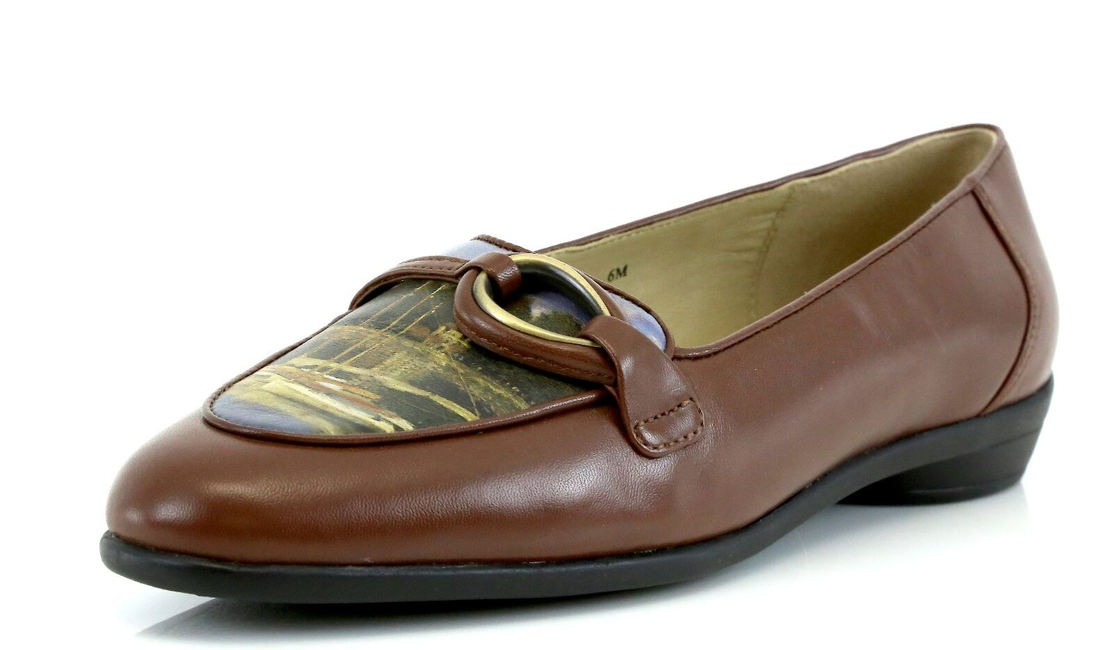 Icon THE BRIDGE Belgium Brown Pelle Loafers 7377 Size 6 M NEW!