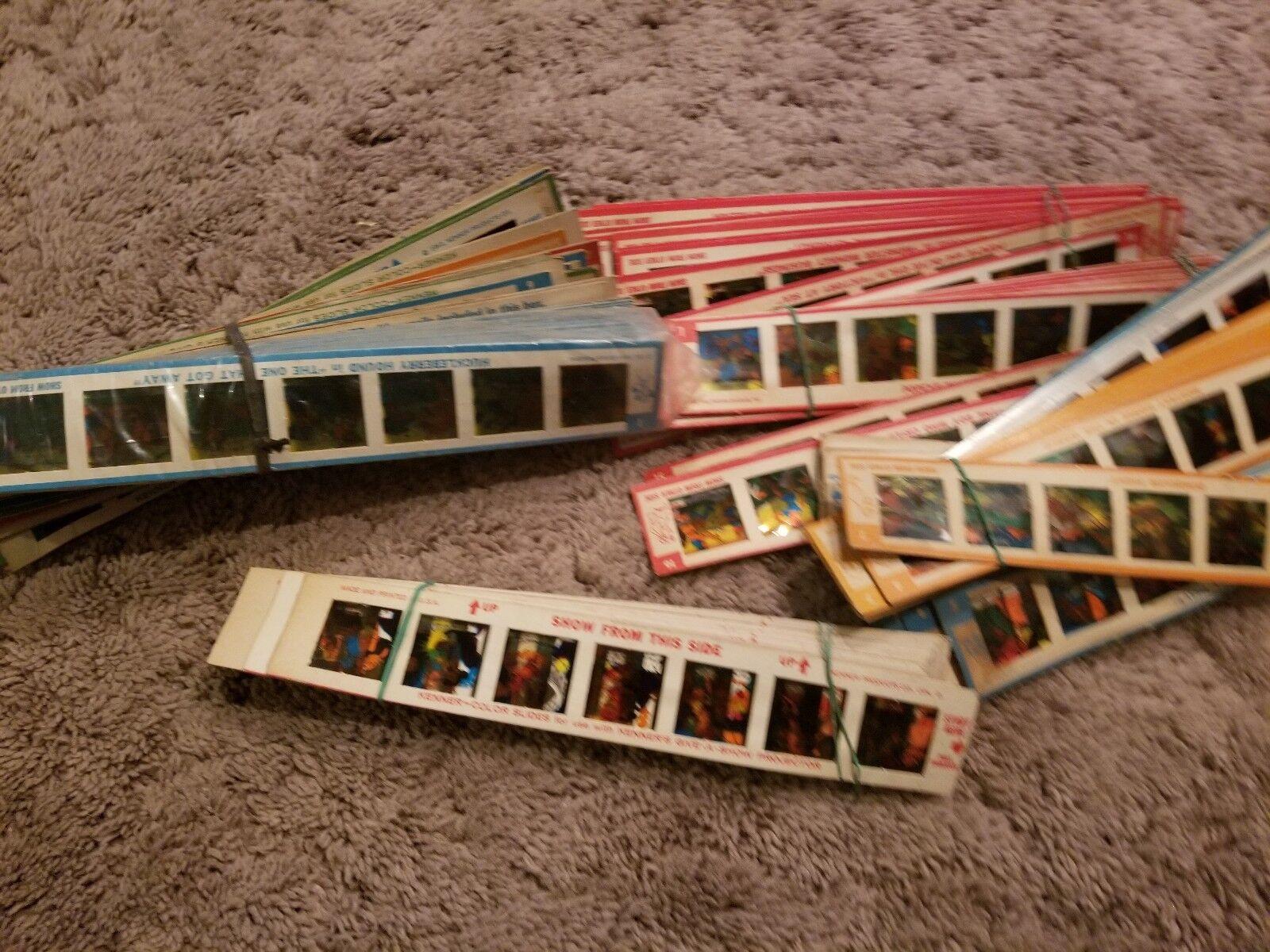 Vintage 1960s Kenner Give a Show color Slides Strips Large Lot