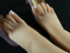 One-Pair-Silicone-High-Arch-Female-Mannequin-Feet-Model-Shoes-Displays miniature 1