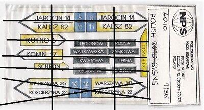 Nps A010 - Polish Road Signs - 1/35 Hard Paper Cartoncino Smoothing Circulation And Stopping Pains
