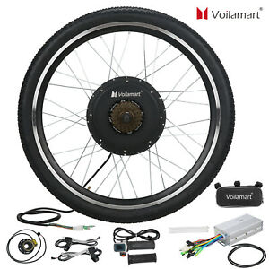 "26"" Electric Bike Rear Wheel Bicycle Conversion Kit Hub Motor Cycling 48V 1000W"