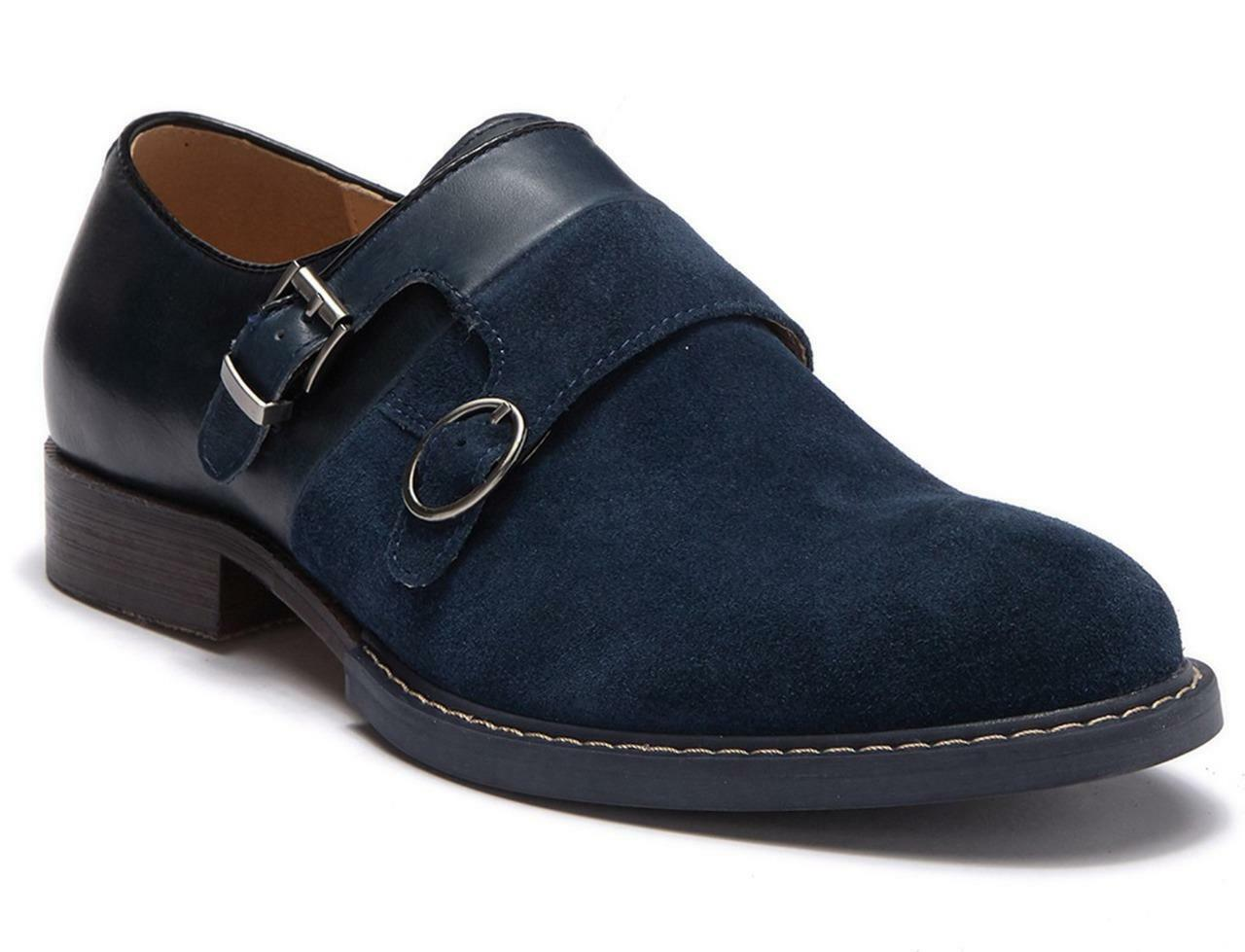 New in Box -  379 Vintage Foundry The Obsidian Monk Strap Derby Oxfords Size 10
