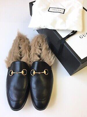 GUCCI Mens 'Jordaan' Fur Princetown