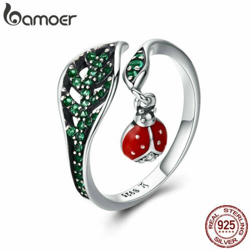 Bamoer Authentique .925 Sterling Silver Ring Avec Clair Zircone Cubique briller pour les femmes Bijoux
