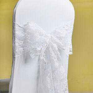 50-100-white-Lace-Bow-Sash-for-chair-cover-sashes-For-Wedding-Banquet-Party-bow