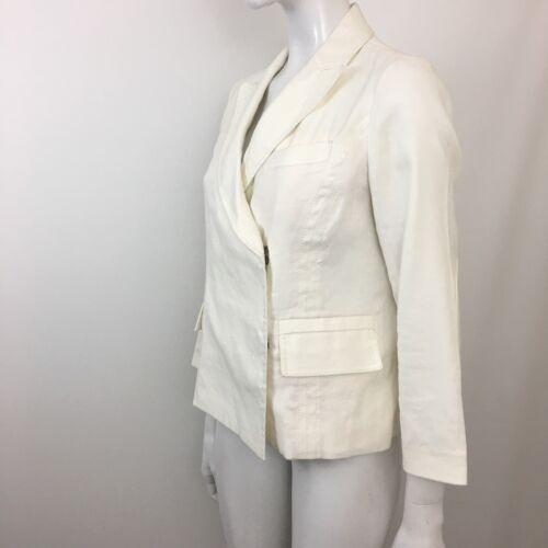 Kvinder Hvid Ralphie Jacket Furstenberg Linen 8 Diane Von Double Breasted Blend nf1Ex