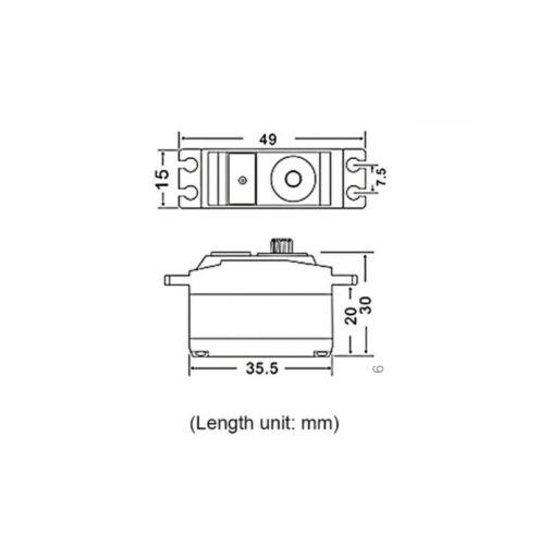 JX PDI-2506MG 6.6KG Metall Getriebe Coreless Servo für WLtoys RC Auto Drohne