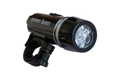 Black 5 LED White Front 2 Modes Headlight Flashlight Torch Bicycle Bike //1827