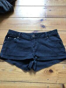 Moto 26 Pantaloncini jeans W neri Topshop di qn1wpI4
