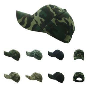 Plain Baseball Cap Denim Hat Army Camo Military Fishing Hunting ... c6bf693d58a