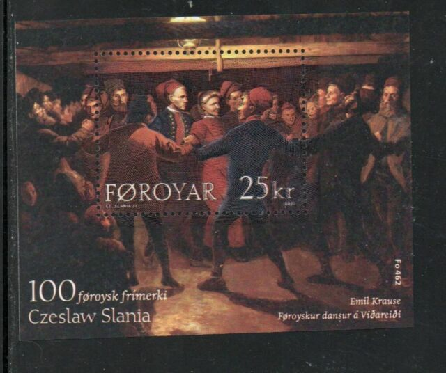 Faroe Islands Sc 438 2003 Painting by Krause, Slania,  stamp sheet mint NH