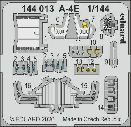 Neu Eduard Accessories 144013-1:144 A-4E for Eduard