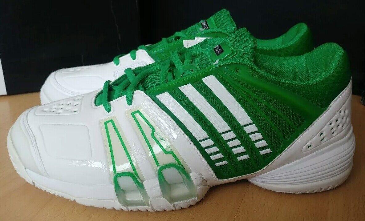 Adidas CC Genius II UK 8,5 Gr. Gr. Gr. 42,5 Tennisschuhe Herren weiß grün OVP Neu ce8d9c