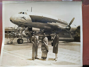 1954 INDIAN VINTAGE 3 PHOTOGRAPH AIR-INDIA INTERNATIONAL AIRCRAFT RANI OF JHANSI