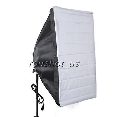 New 50cm x 70cm Studio Lighting Photo Softbox For 4 Socket E27 Lamp Bulb Head