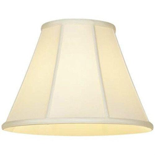 Weiß Shantung Silk Lampshade 12  Empire Weiß Fabric Lamp Shade Fitter