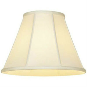 Off white shantung silk lampshade 18 empire cream fabric lamp shade image is loading off white shantung silk lampshade 18 034 empire aloadofball Images