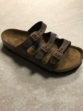Birkenstock Florida Leather Habana SoftFootbed  37R And 41R