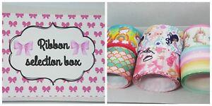 Grosgrain-Ribbon-selection-bundle-box-crafts-Hair-Bow-making-38-50-mm
