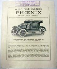 PHOENIX 11.9hp Four Cylinder Model Original Cars Sales Brochure Pre WWI