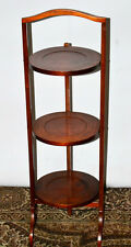 Antique Mahogany Folding 3 Tier Cake Stand - FREE Delivery [PL2023R]