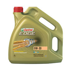 4L Car Engine Oil 4 Litres 0W30 Fully Synthetic VW Merc Longlife - Castrol Edge