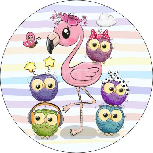 Flamingo Tortendeko Tortenaufleger Party Deko Muffin Tortenbild Pink Rosa Neu