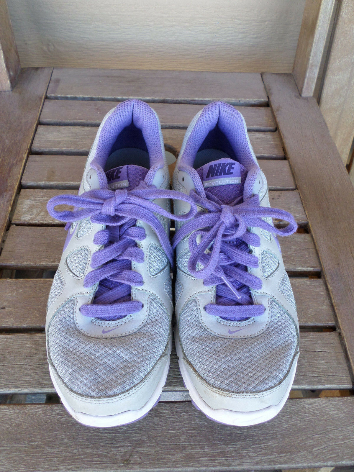 nike nike nike rivoluzione grigio / viola di scarpe da corsa, le dimensioni 8 | Sensazione piacevole  | Modalità moderna  | Scolaro/Signora Scarpa  ace349