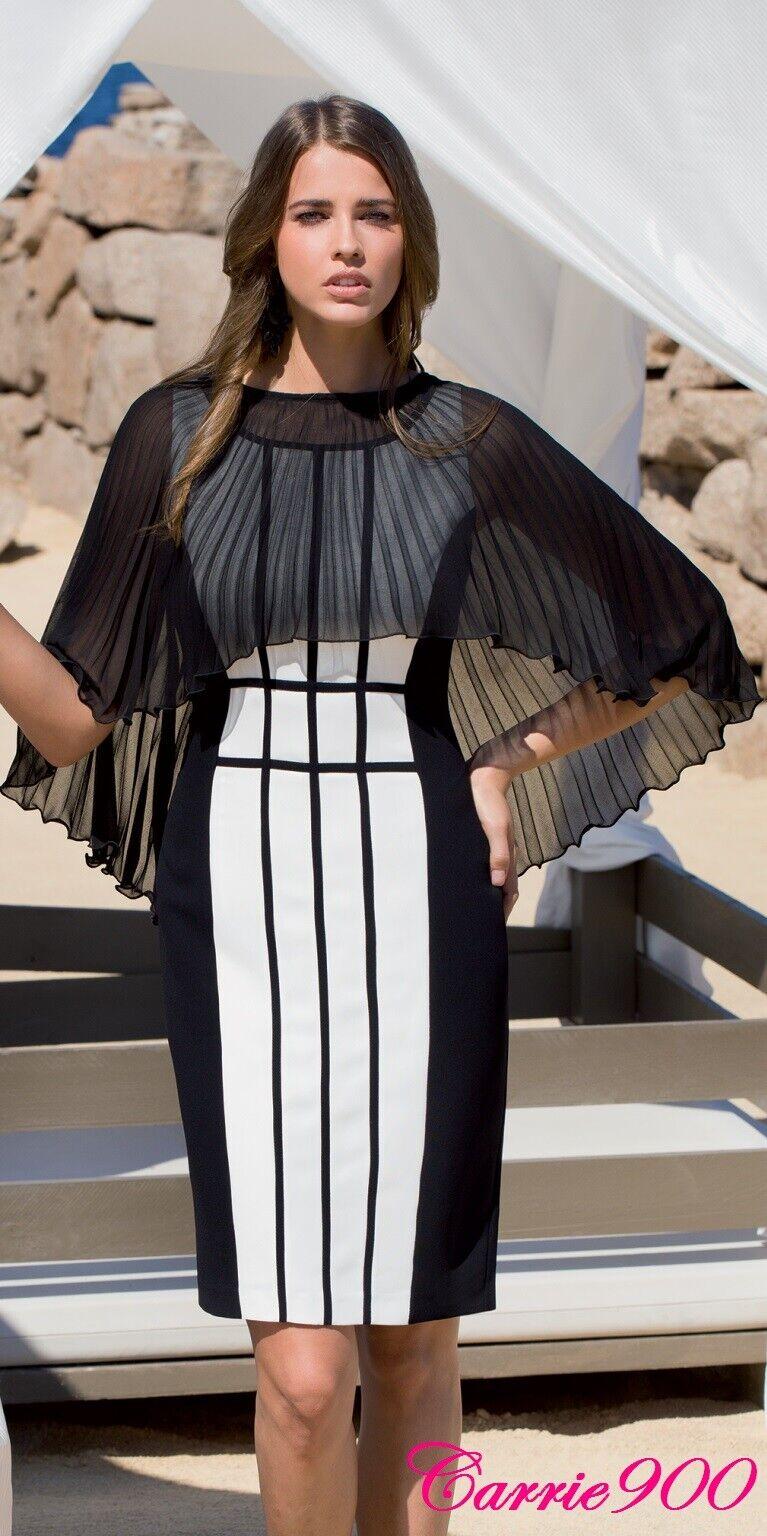 New Designer BLACK Pleated Chiffon Cape Vert Jacket Shrug Suit Dress Wedding