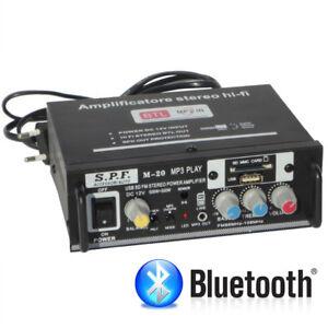 Amplificatore-Stereo-Hi-Fi-2-O-4-Canali-Radio-Fm-Lettore-Mp3-Usb-Equalizzatore