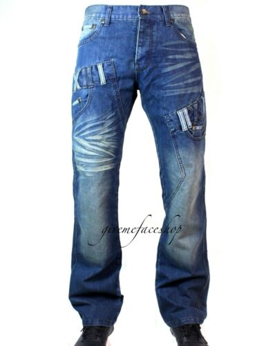 Mens jeans Peviani roch g urban denim hip hop star-wash blue pants straight