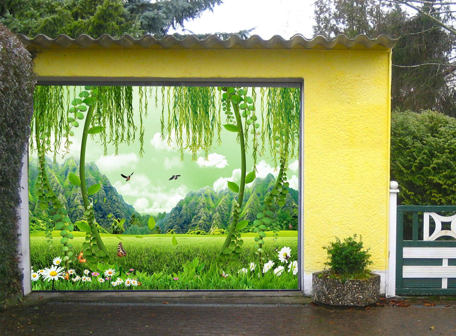 3D Grün Grassland Garage Door Murals Wall Print Decal Wall Deco AJ WALLPAPER IE