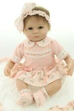 Nicery Reborn Baby Doll Soft Silicone 18in. 45cm Toy Orange Eyes Open