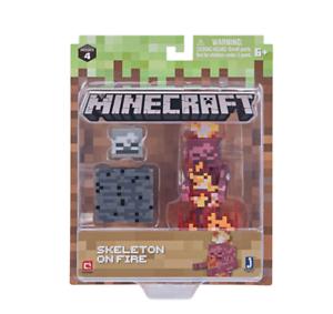 new MINECRAFT figure pack SKELETON on FIRE