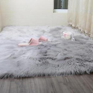 Faux Fur Area Rug Hairy Shaggy Rug Faux Sheepskin Super Soft Carpet