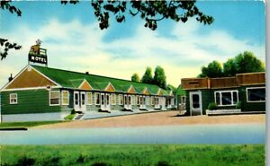 Deer-Lodge-Motel-Deer-Lodge-Montana-U-S-10-Vintage-Postcard-AU1