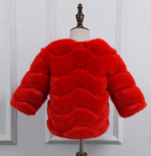 Luxury Kid Baby Girl Boy Hot  Fur Long Sleeves Winter Outwear Parka Coat A28