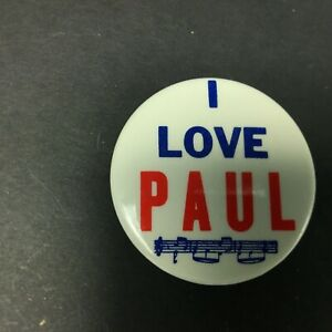 The-Beatles-1964-Pin-Back-Button-I-LOVE-PAUL-Made-In-USA-Memorabilia-2-034-Inch