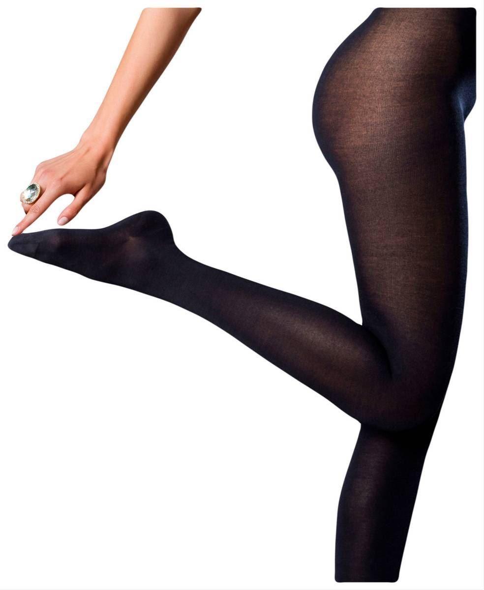 Falke Womens Finest No2 Pure Silk Tights - Dark Navy