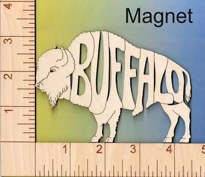 Goat laser cut and engraved wood Magnet Great Gift Idea