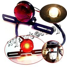 12V Round 3 wire LED Motorcycle Brake Rear Tail Running License Plate Light red