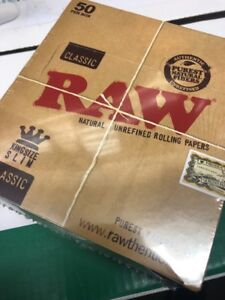 Raw Classic Kingsize Rolling Papers Full Case x 50 Booklets Free Delivery £14.99