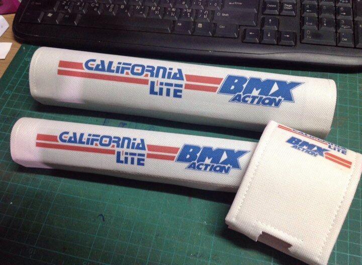 Old School BMX  California lite White - Red -blueee pad set BMX P.K Ripper Kuwahara  clearance up to 70%
