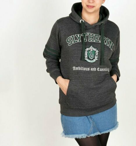 Official Harry Potter Slytherin Applique Charcoal Hoodie