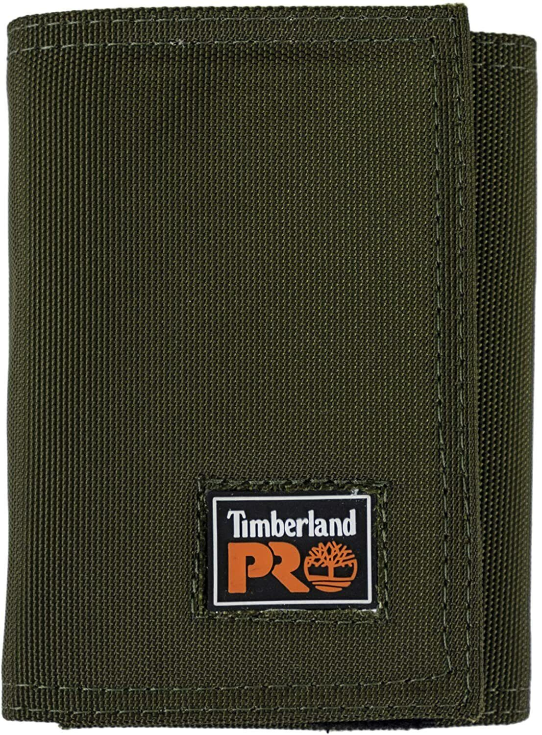 Timberland PRO Men's Cordura Nylon RFID Trifold Wallet with One Size, Olive