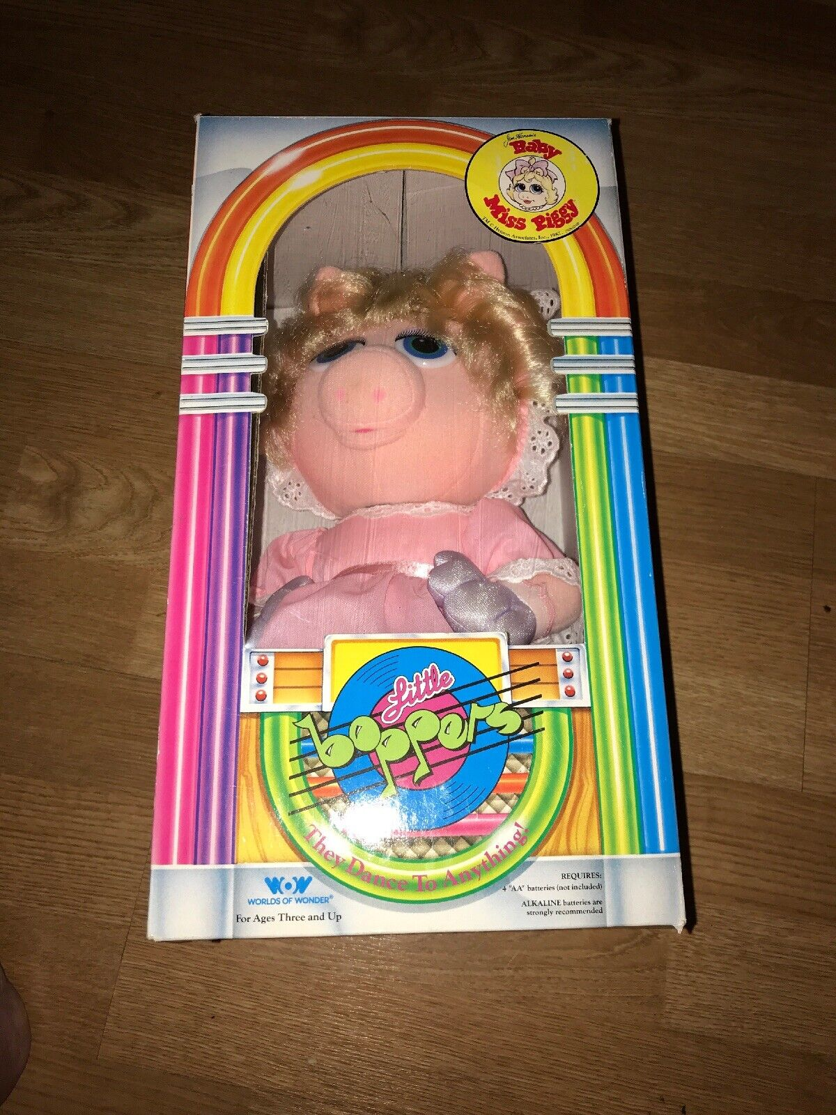 NEW  Worlds of Wonder BABY MISS PIGGY Little Boppers 1987 Muppet Babies